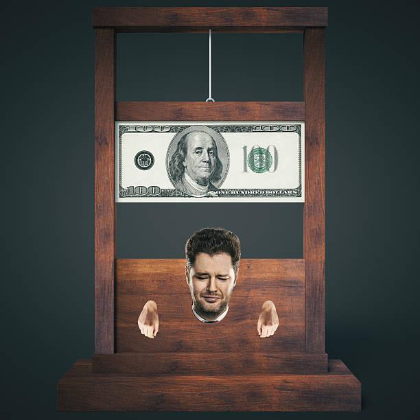 Dark guillotine stock photo
