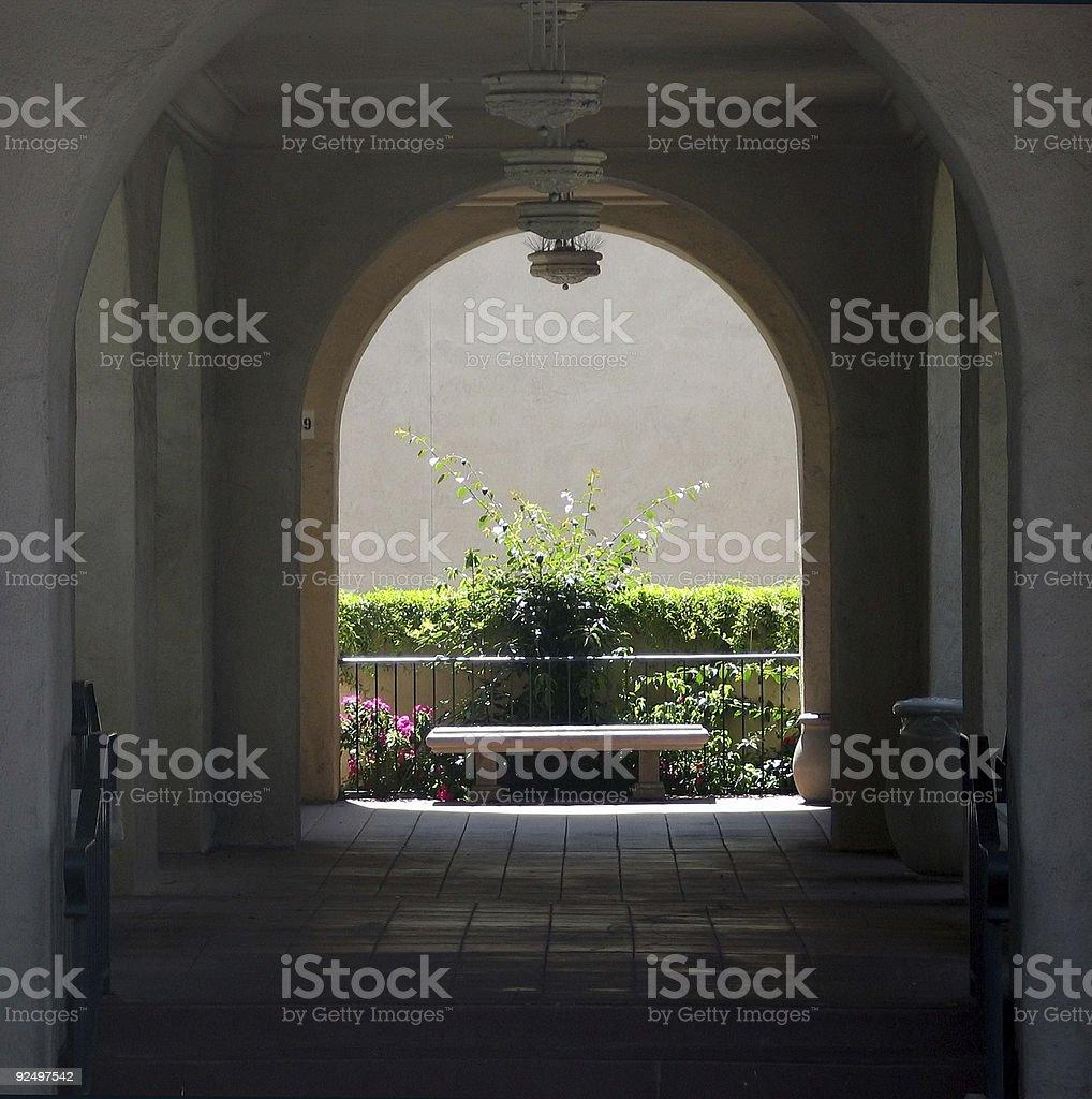 dark hallway royalty-free stock photo