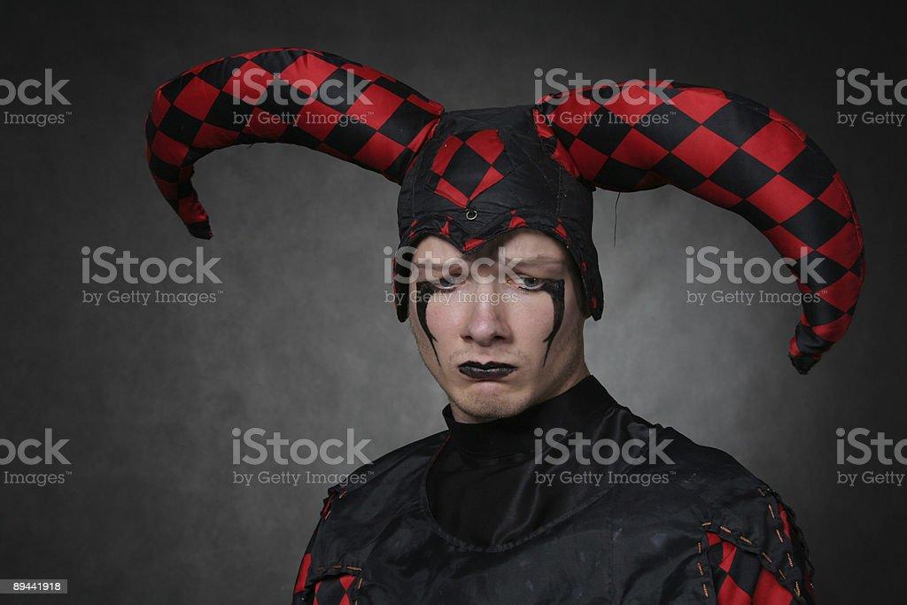 Dark harlequin royalty-free stock photo