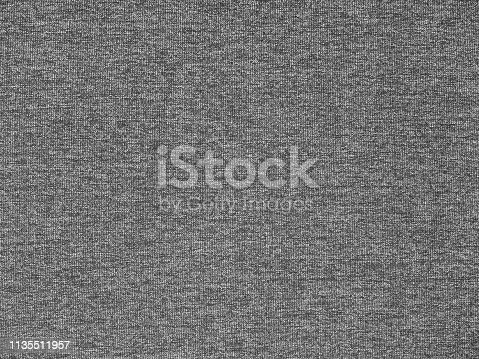 Dark heather gray polyester activewear knitted fabric texture swatch
