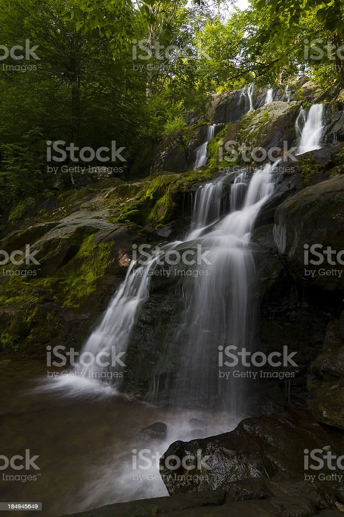 Dark hollow falls on Skyline drive, Shenandoah national park stock photo