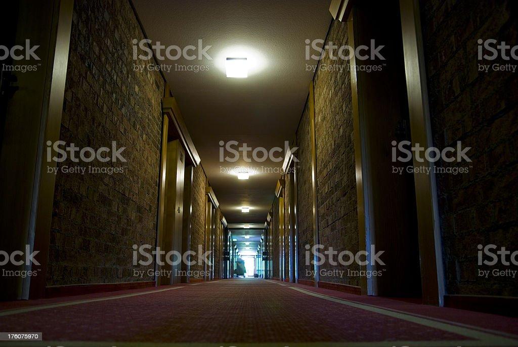 dark hotel floor royalty-free stock photo