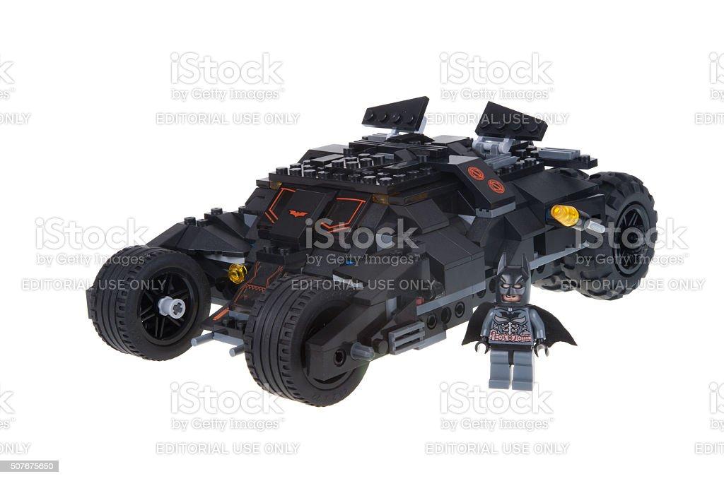 Dark Knight Tumbler Custom Lego stock photo