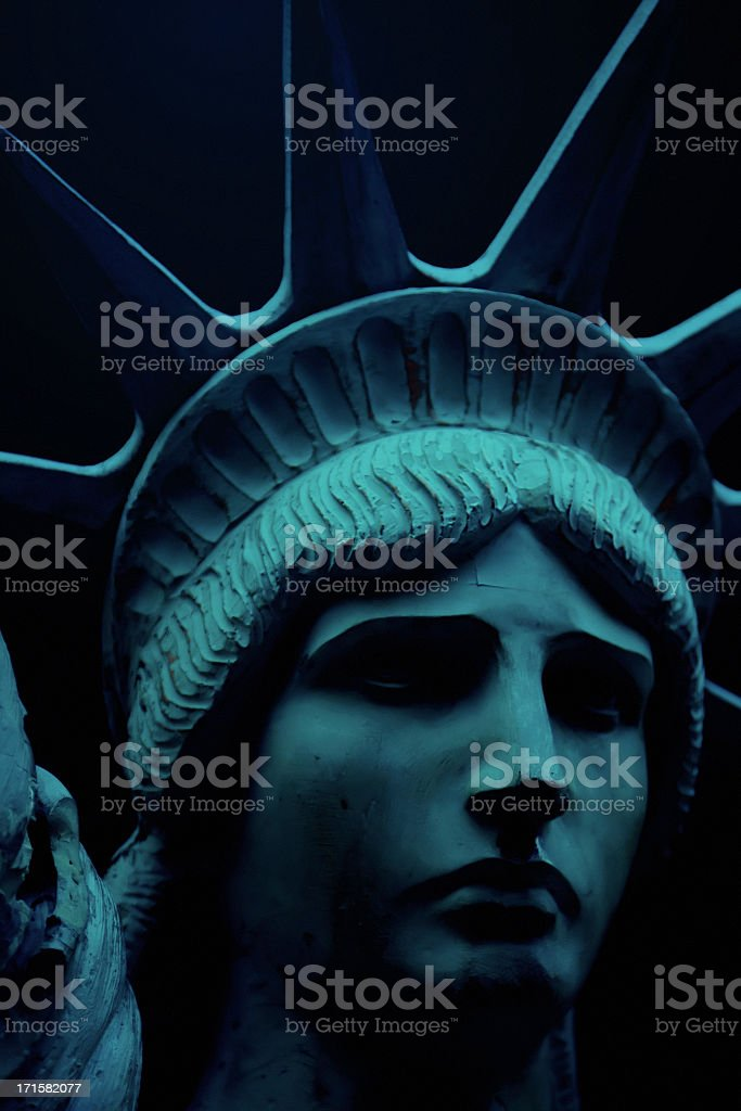 Dark Lady Liberty royalty-free stock photo
