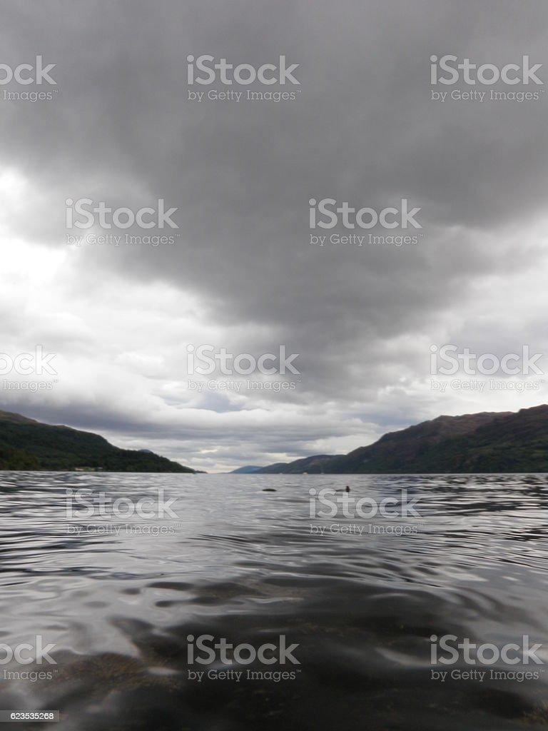 Dark Lake stock photo