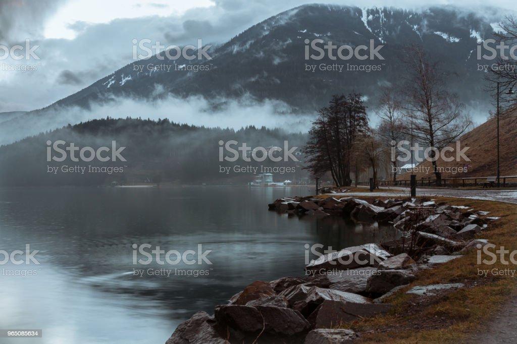 Dark Lake royalty-free stock photo