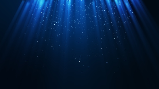 istock Dark light blue particle form abstract background 1271307930