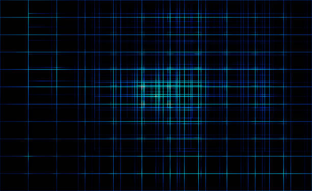 dark line blue color light abstract technology background - grid pattern stock photos and pictures