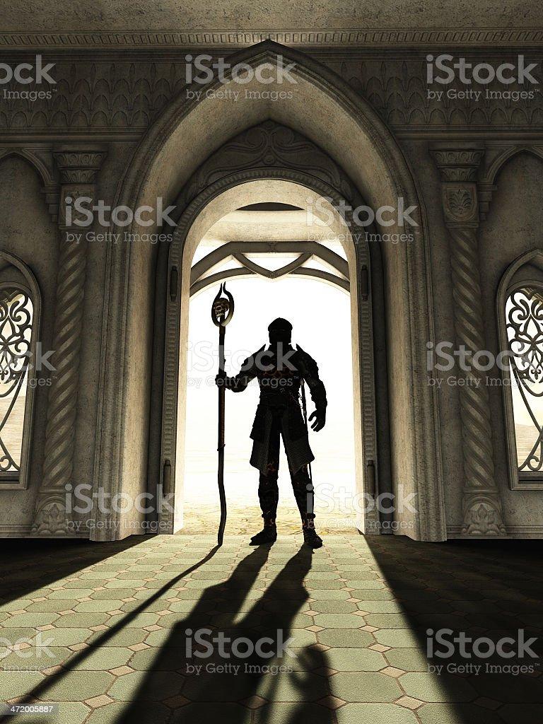 Dark Lord at the Threshold stock photo