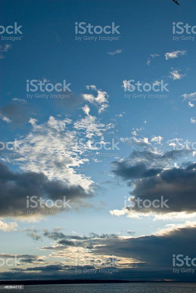 Dark, Lowlying Clouds over Tampa Bay stock photo