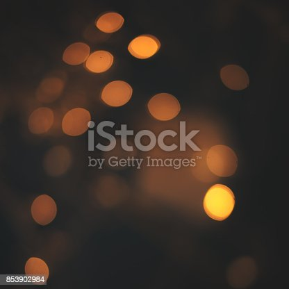 846933050 istock photo Dark Luxury Abstract Shining Party Background with Sparkling  Lights and golden bokeh. Christmas Design. Colorful circles of dark nights  defocussed background