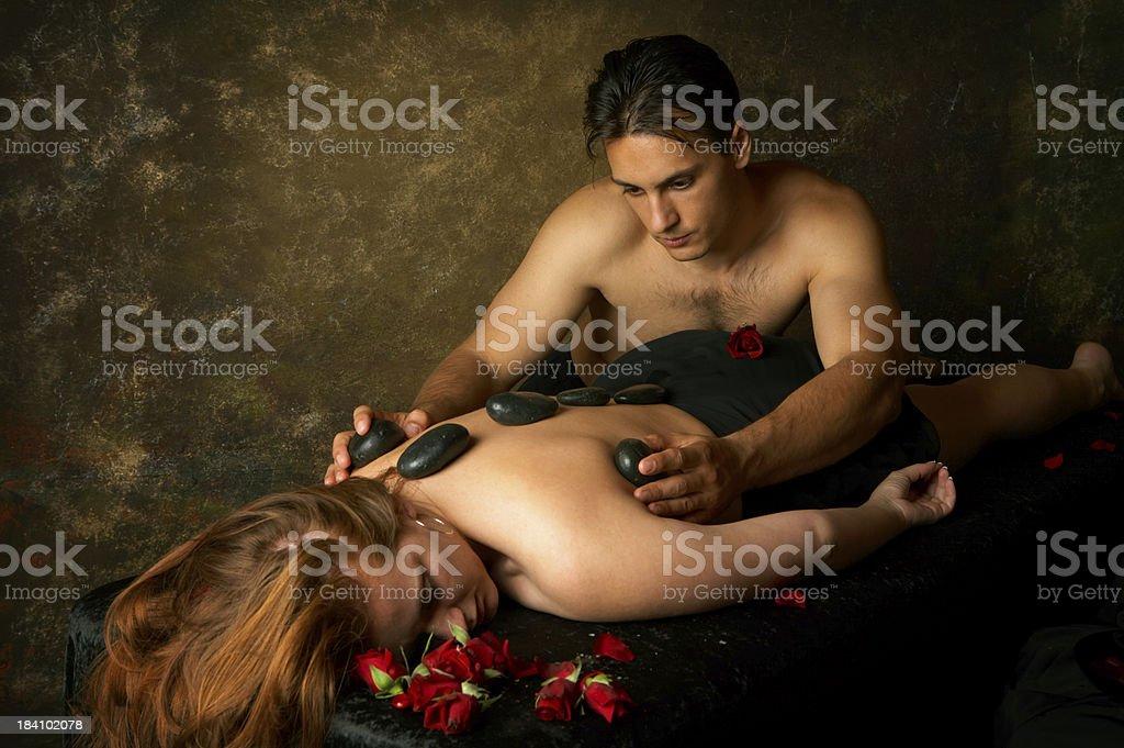 Dark massage royalty-free stock photo