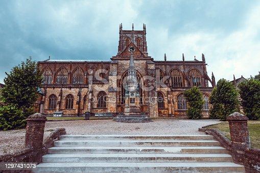 istock Dark Medieval Sherborne Abbey, UK 1297431073