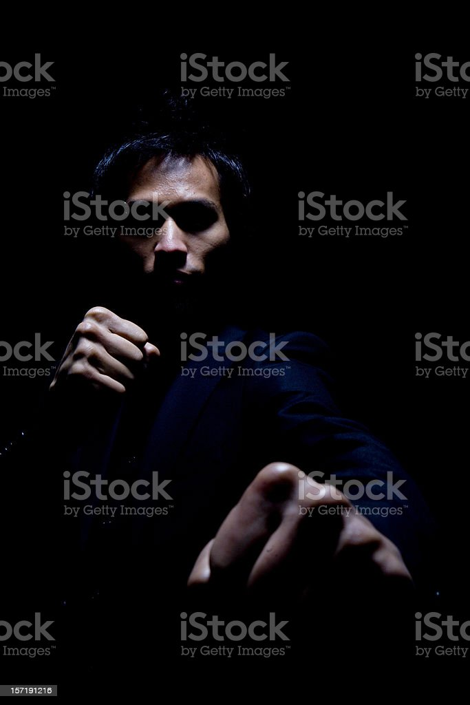dark menace stock photo