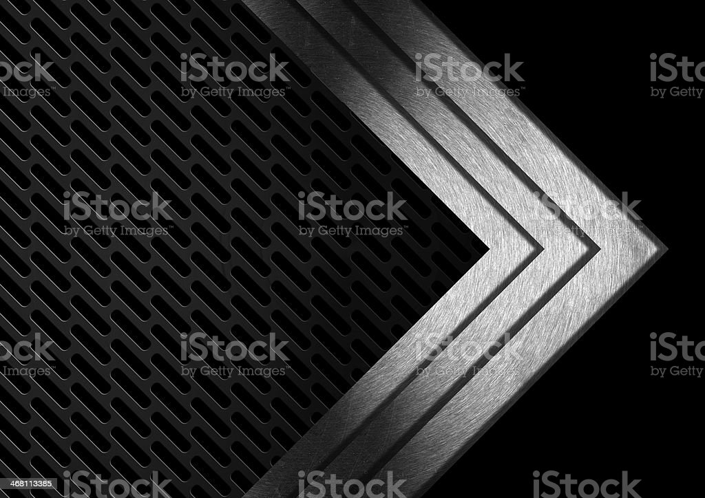 Dark Metal Abstract Background with Arrows stock photo
