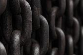 Dark metal chains background