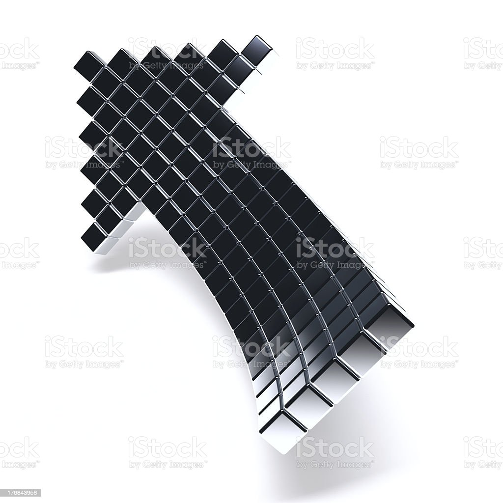 dark metallic arrow royalty-free stock photo
