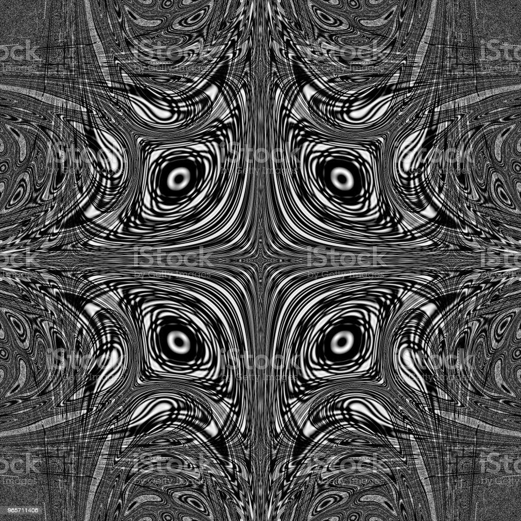 Dark monochrome mandala abstract unusual design - Royalty-free Abstract Stock Photo