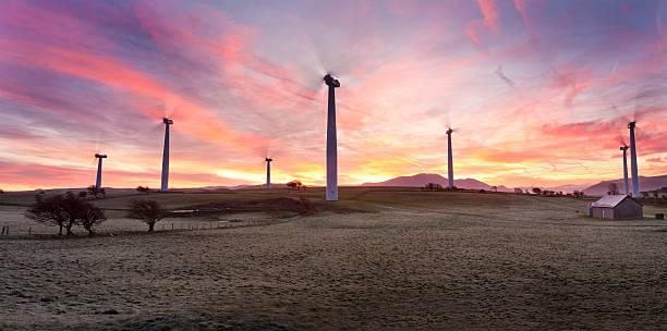 Dark Moota Lakeland Sunrise stock photo