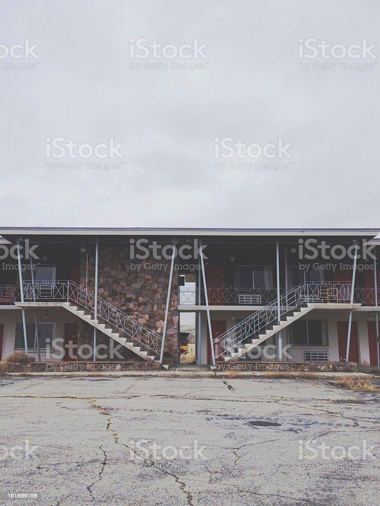 Dark Motel stock photo