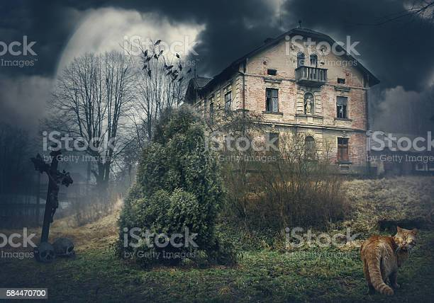 Dark mysterious halloween landscape with old house picture id584470700?b=1&k=6&m=584470700&s=612x612&h=gvb zpflywwzdd7mjlia2y4wcaywtlaxusknwimuqhi=