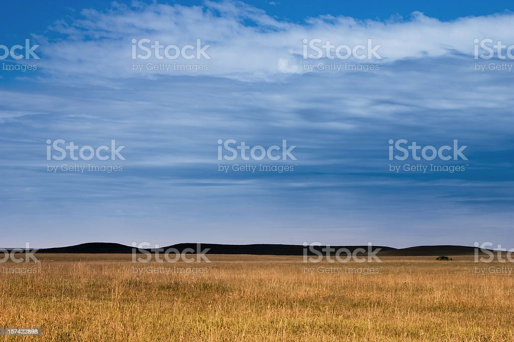 Dark Mysterious Hills Kansas Tallgrass Prairie Grasslands royalty-free stock photo