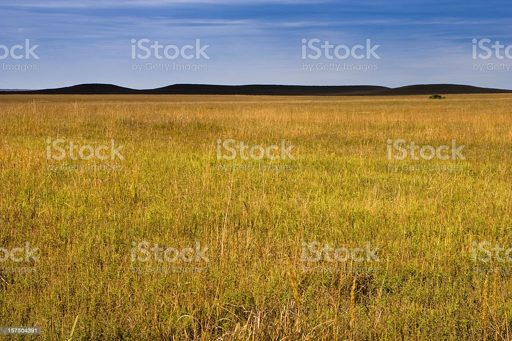 Dark Mysterious Hills Kansas Tallgrass Prairie Grasslands stock photo