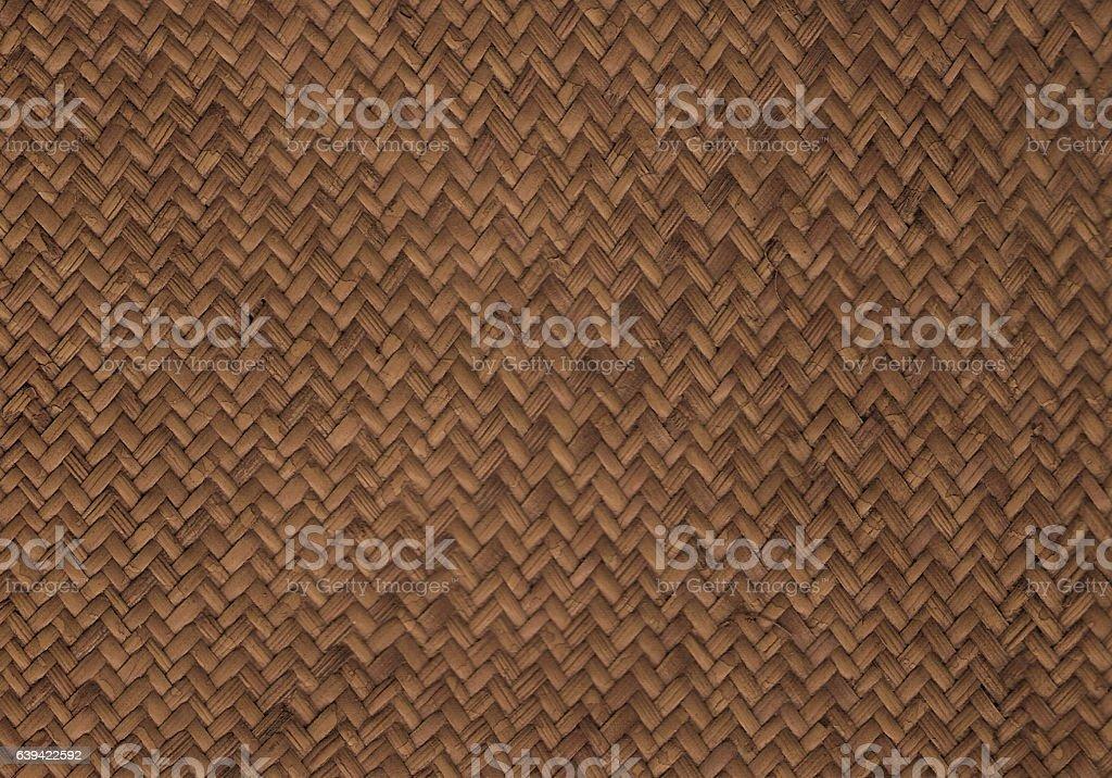 Dark natural woven rattan stock photo