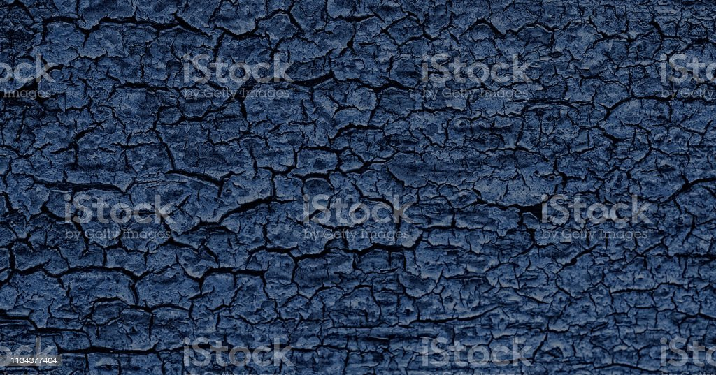 Dark Navy Blue Chipped Paint, Weathered Texture stock photo
