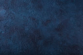 istock Dark navy blue stone texture background. Top view. Copy space. 1255454241