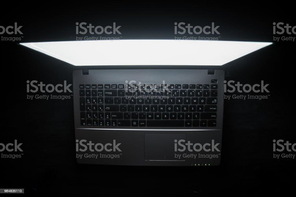 dark net Russian hacker hacking the server in the dark web, Deep Web royalty-free stock photo