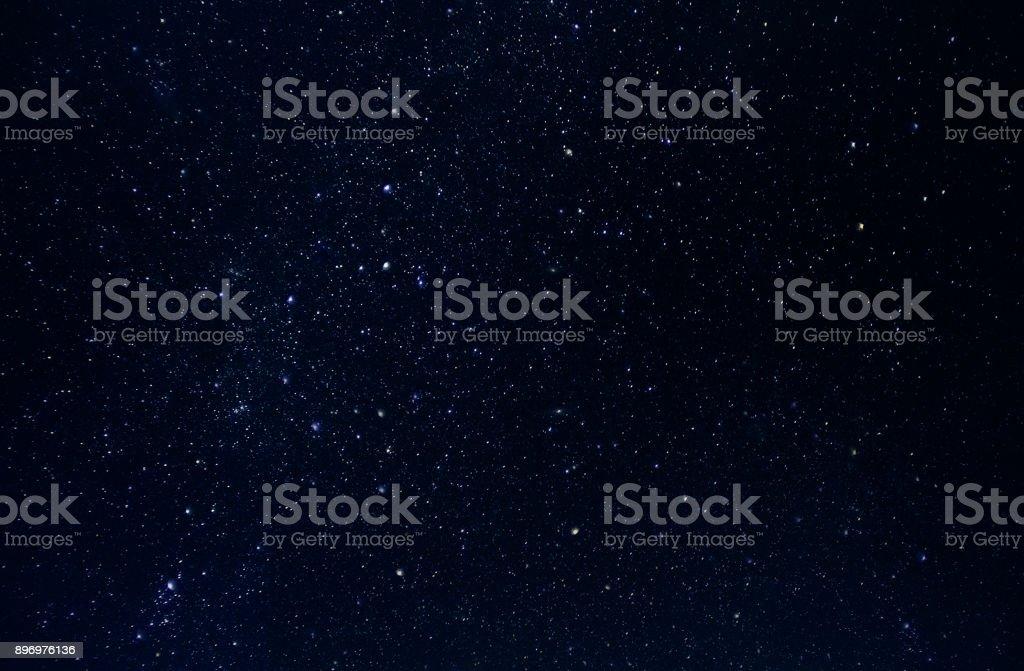 Dark night sky with plenty of stars as background royalty-free stock photo