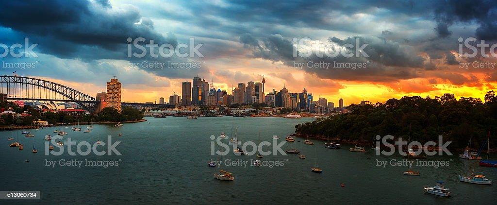 Dark of City stock photo