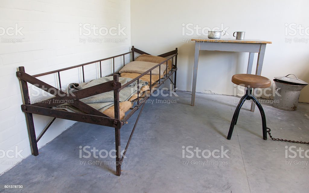 Dark old dutch jail stock photo