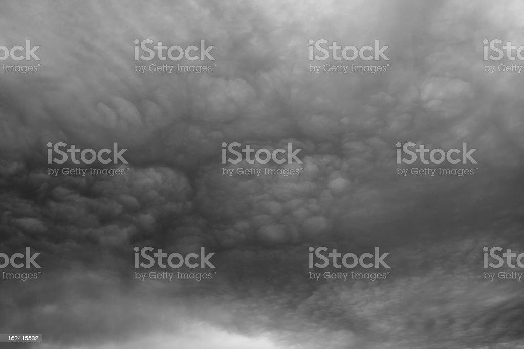 Dark ominous grey storm clouds. royalty-free stock photo