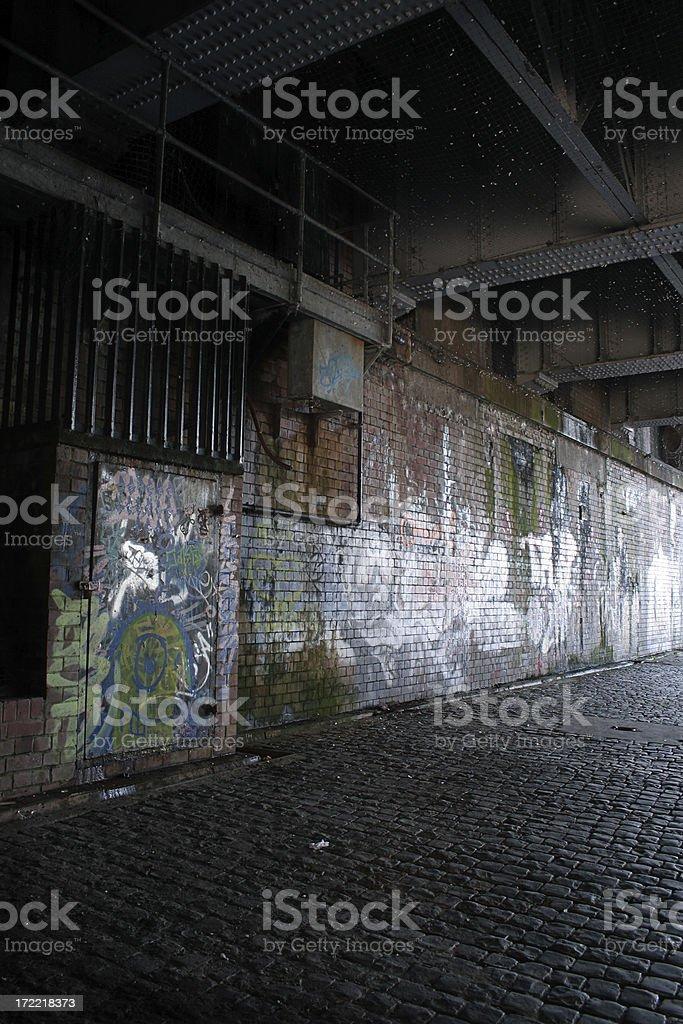 dark pathway stock photo