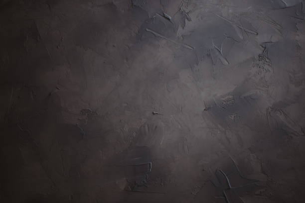 fondo oscuro enyesada, hecho a mano con textura fondo foto - foto de stock