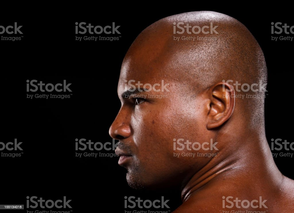 Dark Portrait of a Man stock photo