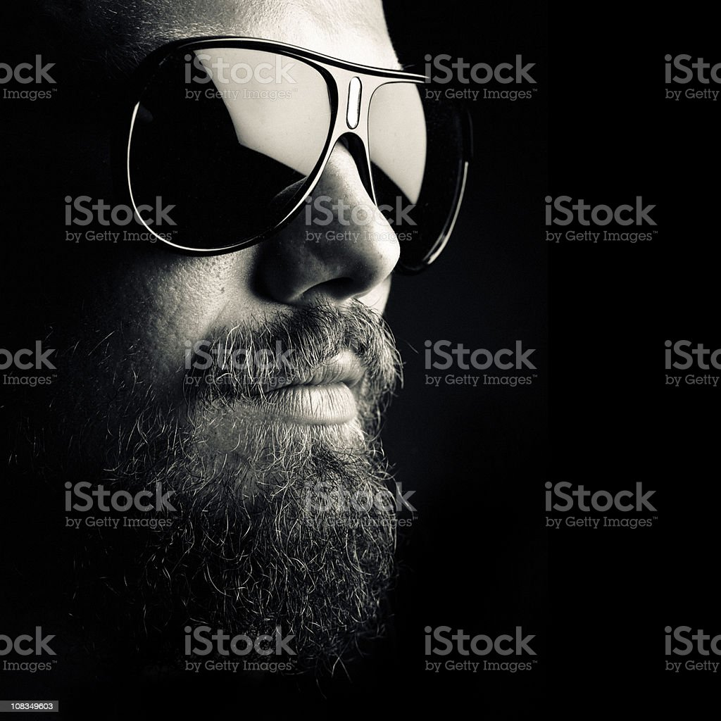 dark portrait stock photo
