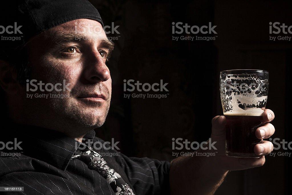 Dark portrait stock photo