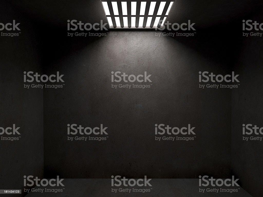 Dark prison cell stock photo