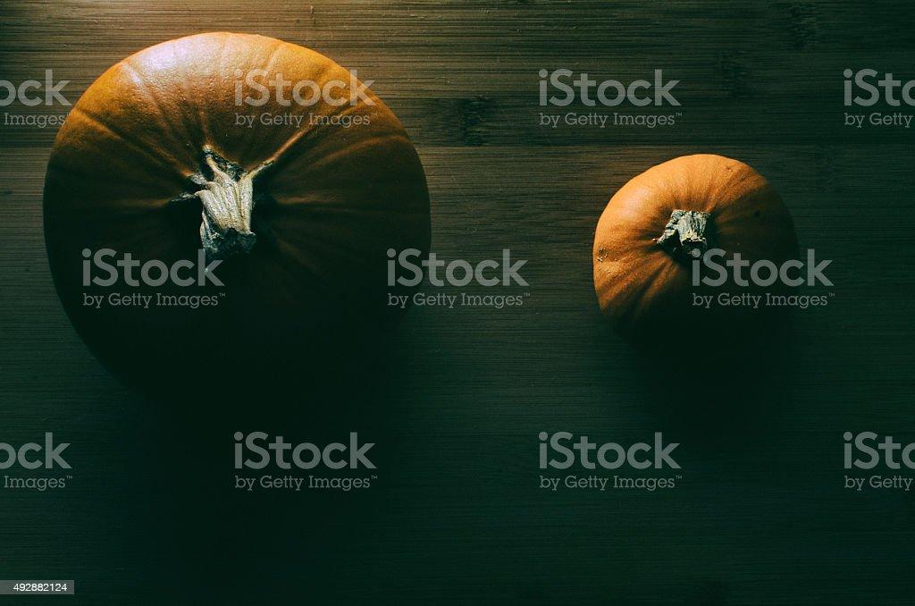 Dark Pumpkins stock photo