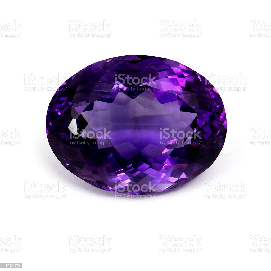 Dark Purple Amethyst stock photo