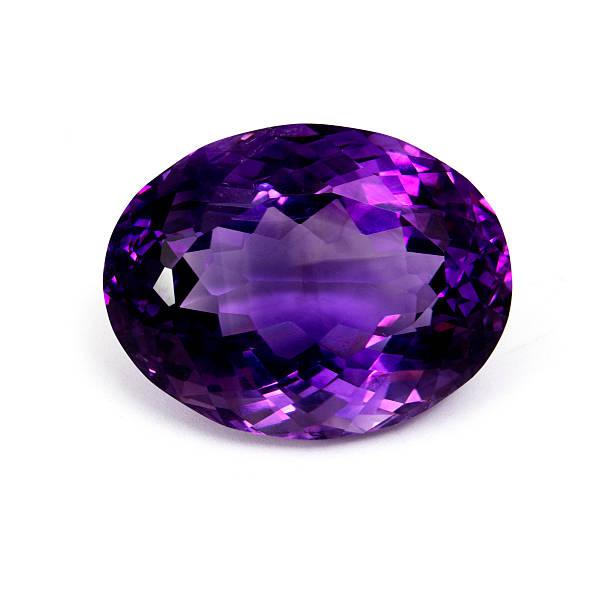 Dark Purple Amethyst stock photo