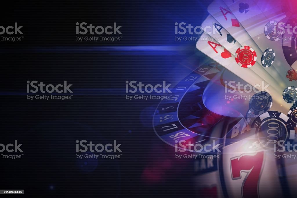 Dark Purple Casino Games stock photo