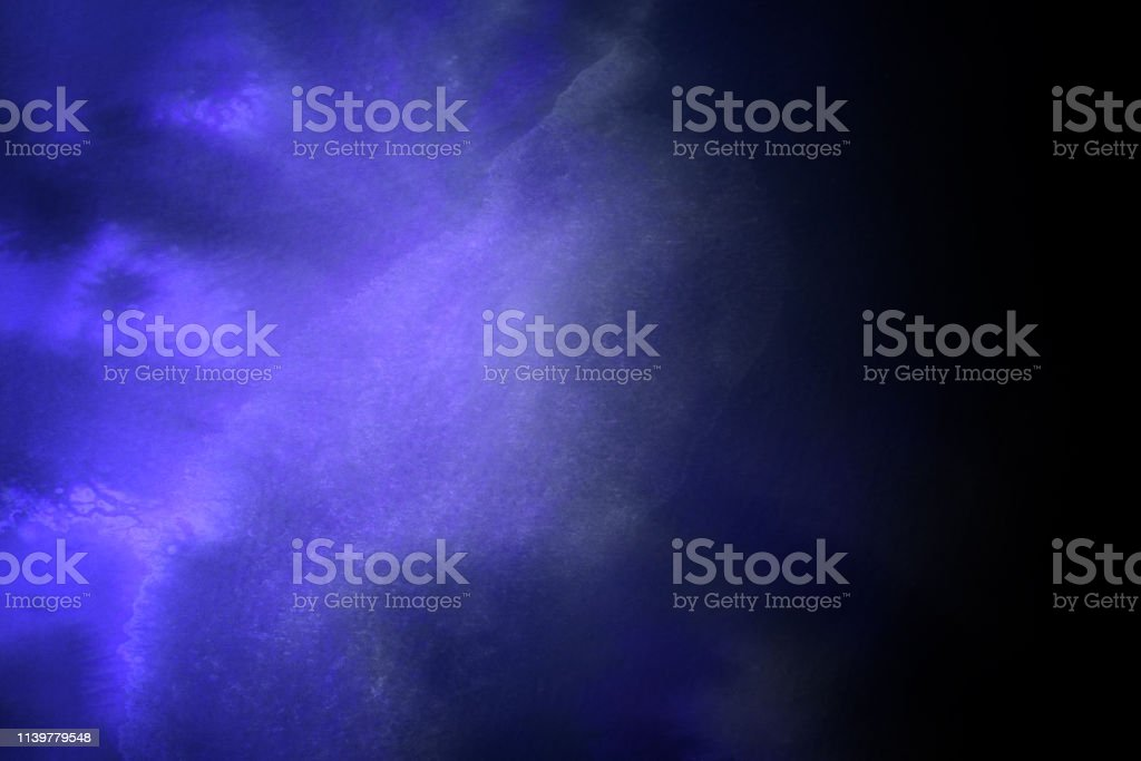 Dark Purple Dramatic Watercolor Painted Background stock photo