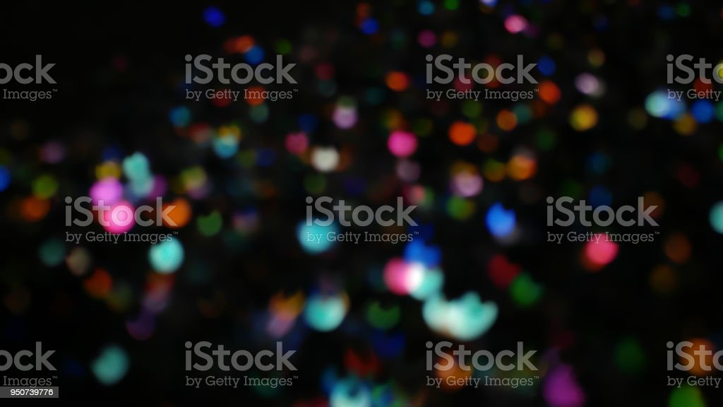 dark rainbow bokeh lights in many various bright and pretty colors