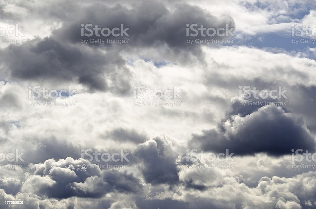 Dark rainclouds block out the sun. royalty-free stock photo