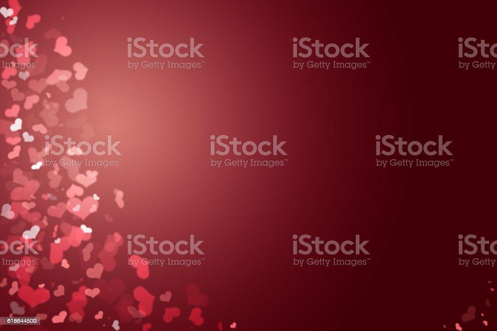 Sfondo Rosso Scuro Con Cuori Fotografie Stock E Altre Immagini Di Bordeaux Rosso