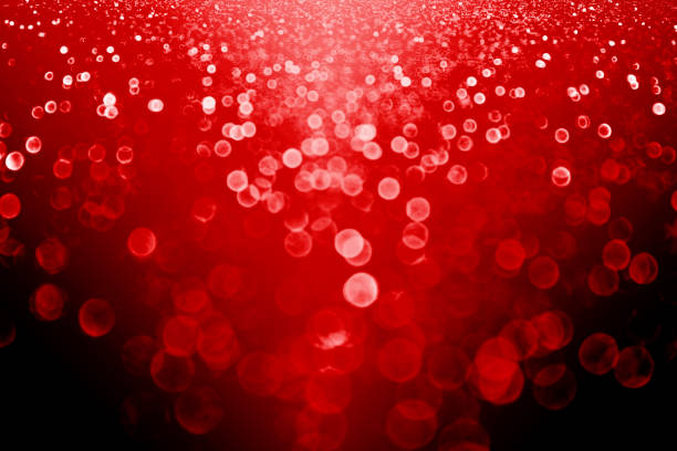 Dark Red Black Christmas or Valentine Day Sparkle Background or New Year Eve Party Invite stock photo